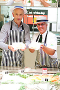Cromer based Jonas Seafood have recently won a contract to supply 200 out of Morrisons' 500 stores with Cromer Crab with the Cromer store being one of the first pictured is Kevin Jonas and Peter Vass of the store. <br /> <br /> Picture: MARK BULLIMORE