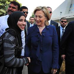 Secretary of State Hillary Rodham Clinton visits the United Arab Emirates on Jan. 10, 2011.