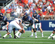 Ole Miss offensive lineman Aaron Morris (72) vs. Auburn at Vaught-Hemingway Stadium in Oxford, Miss. on Saturday, October 13, 2012. (AP Photo/Oxford Eagle, Bruce Newman)..
