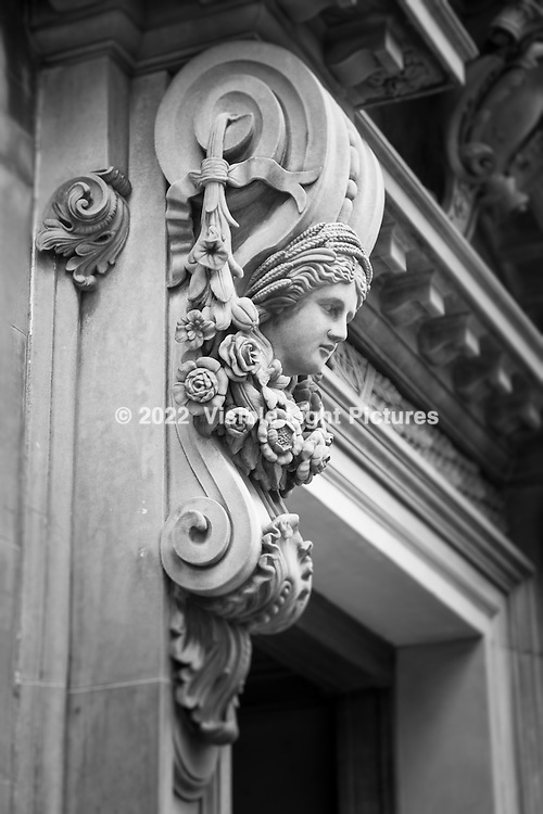An architectural detail from an old building in Edinburgh.