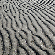 Tidal sand pattern. Double Bluff State Park (Useless Bay Tidelands), Whidbey Island, Washington, USA. While the tidelands are a State Park, the upland portion is Double Bluff Park, operated by the Friends of Double Bluff and Island County, including an off-leash dog park.