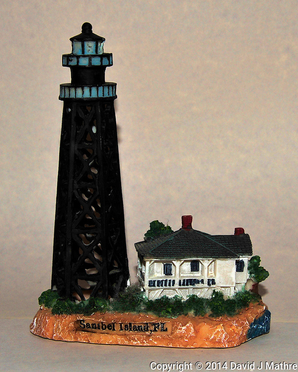 Sanibel Island, Florida Lighthouse - Ceramic Replica. Image taken with a Nikon D700 camera and 28-300 mm VR lens (ISO 800, 56 mm, f/11, 1/60 sec, pop-up flash)