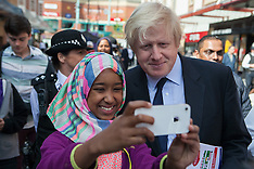 APR 10 2014 Boris Johnson, Harrow town centre visit