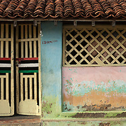 East Coast home. Facade of a fishermans home in Nagapattinam.