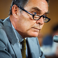 Alexander Haig during his January 1981 confirmation hearing before the U.S. Senate Foreign Relations Committee on his nomination as Secretary of State.