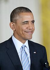 FEB 12 2014 Barack Obama speaks before signing