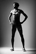 Sao Paulo, Brazil, June 11 of 2012:  BRAZILIAN OLYMPIC ATHLETES: Brazilian long jumper Duda ( Mauro Vinicius ) during a photo shooting at a studio in Sao Paulo.  (photo: Caio Guatelli)