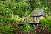 """Treehouse"" guest lodging at Matangi Private Island Resort, Fiji."