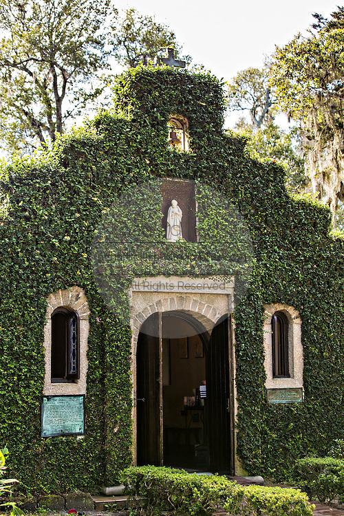 Mission Nombre de Dios historic site in St. Augustine, Florida.