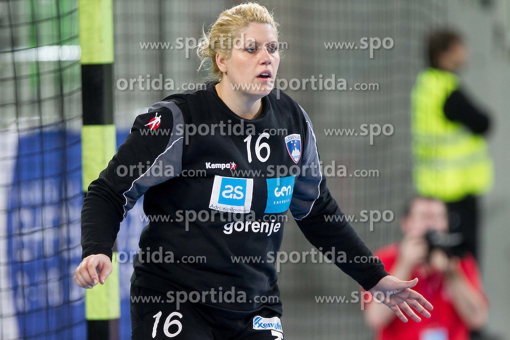 Misa Marincek of Slovenia during handball match between Women National Teams of Slovenia and Czech Republic of 4th Round of EURO 2012 Qualifications, on March 25, 2012, in Arena Stozice, Ljubljana, Slovenia. (Photo by Vid Ponikvar / Sportida.com)
