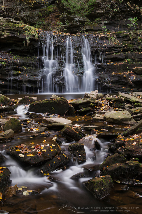 Cascades of Kitchen Creek in Ganoga Glen , Ricketts Glen State Park, Pennsylvania