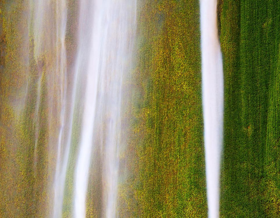 Detail of Ribbon Falls, North Rim, Grand Canyon National Park.