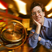 Steven Gubser, member of the 1990 All-USA High School Academic Team. He was the first American student to be the overall winner of the International Physics Olympiad while a high school student in Colorado. Now he is a physics professor at Princeton University. His research specialty is string theory. 1/9/2006 -- Princeton, NJ.Photo by Jim Graham, Freelance.