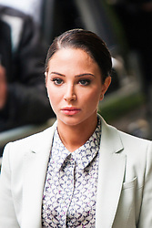 London, June 27th 2014. Former N-Dubz pop star and X-Factor judge Tulisa Contostavlos arrives at Southwark Crown Court as a hearing continues over drugs charges arising from a newspaper sting operation.