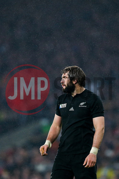 New Zealand Lock Sam Whitelock - Mandatory byline: Rogan Thomson/JMP - 07966 386802 - 24/10/2015 - RUGBY UNION - Twickenham Stadium - London, England - South Africa v Wales - Rugby World Cup 2015 Semi Finals.