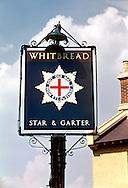 Pub Signs, Star & Garter, Tonbridge, Kent, Britain