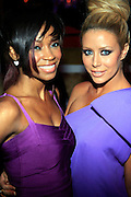 D. Woods and Aubrey O'day at R & B Live featuring Vocalist sensations Peter Hadar and Estelle at Spotlight Live on May 20, 2008 in New York City
