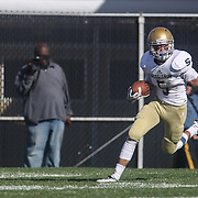 Salesianum split end Jeremy Ryan (5) returns a punt in the fourth quarter of a regular season football game between No. 2 Salesianum and No.1 William Penn Saturday, Oct. 31, 2015 at William Penn High School in New Castle.