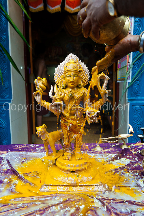 Festival at small Hindu temple off Jampettah Street.<br />