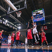 Delaware 87ers Center SHAWN LONG (21) attempts a shot as Grand Rapids Drive Guard CHRIS ANDERSON (24) defends in the first half of a NBA D-league regular season basketball game between the Delaware 87ers and the Grand Rapids Drive (Detroit Pistons) Tuesday. Nov. 29, 2016 at The Bob Carpenter Sports Convocation Center in Newark, DEL.