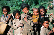 Africa, Madagascar, young local children