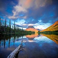 sinopah mountain sunrise two medicine lake glacier national park, montana