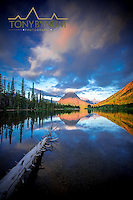 sinopah mountain sunrise two medicine lake glacier national park, montana