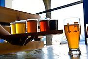 Enjoying microbrew beers at Block 15 brewery, Corvalis, Oregon