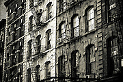 Windows and typical stairs from the nineteen century in Tribeca, Manhattan, New York, 2009.