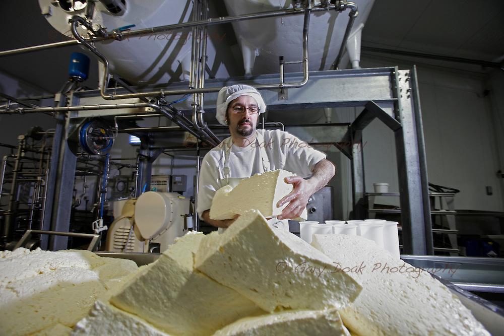 Gabriele Caputo and Adriana Alonzi, an Italian couple making Mozzarella cheese on a farm in East Lothian, supplying local shops and restaurants in Edinburgh.