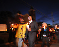 Annual Martin Luther King Jr. candlelit vigil on Monday, January 18, 2010 in Oxford, Miss..