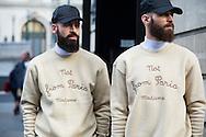 Two Men in Sweatshirts, Outside Balmain FW2015