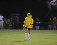 Ole Miss' goalkeeper Kelly McCormick vs. Memphis in soccer action at the Ole Miss Soccer Stadium in Oxford, Miss. on Sunday, September 15, 2013. Ole Miss won 3-0.