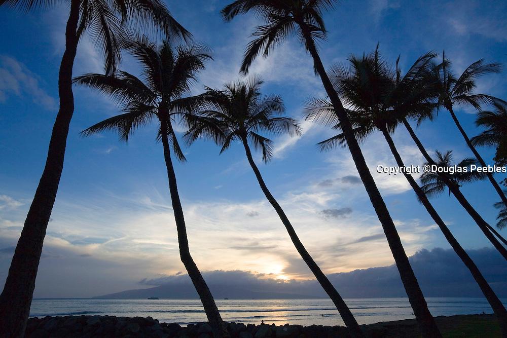Sunset, Lahaina Maui, Lanai in background, Hawaii