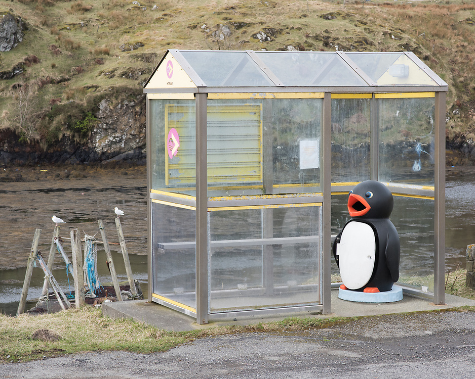Bus shelter, Scalpay, Harris, Scotland