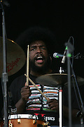 "Ahmir ""?uestlove"" Thompson of The Roots performs during the second day of the 2007 Bonnaroo Music & Arts Festival on June 15, 2007 in Manchester, Tennessee. The four-day music festival features a variety of musical acts, arts and comedians..Photo by Bryan Rinnert."