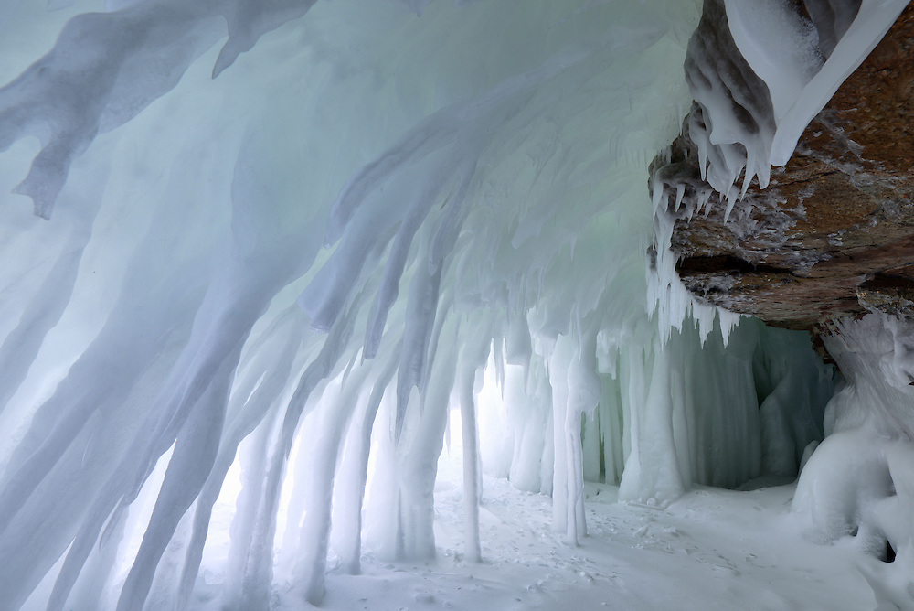 A small ice cave I stumbled upon while walking along the Lake Superior shore.