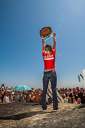 HUNTINGTON BEACH, California/USA (Sunday, August 5, 2012) - Lakey Peterson (USA), 17, defeated Carissa Moore (HAW), 19, to clinch the final event of the 2012 ASP Women's World Championship Tour season, the Nike US Open of Surfing, in front of a capacity crowd at Huntington Beach. All fees must be agreed prior to publication, Byline and/or web usage link must read PHOTO © Eduardo E. Silva/SILVEX.PHOTOSHELTER.COM.