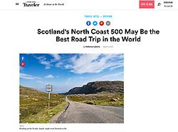 Conde Nast Traveler magazine; North Coast 500 at Applecross
