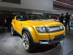 Concept for new Land Rover Defender at Frankfurt Motor Show or IAA 2011 Germany