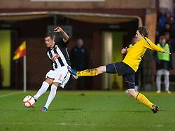 Dunfermline's Jordan McMillan and Falkirk's Blair Alston..Dunfermline 0 v 1 Falkirk, 26/12/2012..©Michael Schofield.