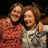 Michelle Connolly, left, and Fritzi Huber pose for a photo Friday July 25, 2014 during the Blues Cruise After Party at The Rusty Nail in Wilmington, N.C. (Jason A. Frizzelle)