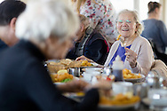 EMBARGOED 00:01 Wednesday 22nd February; 2017.<br /> <br /> Residents of Chestnut View care home enjoying fish and chips while visiting Southsea, Hampshire. They are amongst the first of 100,000s of old and vulnerable people to enjoy new Out and About excursions after Oomph! announces nationwide expansion plans today (Wednesday 22nd February).<br /> Out and About tackles a lack of outings for people in care settings due to social care funding cuts. Innovative model offers economies of scale on excursion planning, transport and conductors across care settings in an area.<br /> 80 Out and About minibuses will hit the road in first year thanks to &pound;1.5million investment from Mike Parsons, Care and Wellbeing Fund and Nesta Impact Investments.<br /> Photograph by Christopher Ison &copy;<br /> 07544044177<br /> chris@christopherison.com<br /> www.christopherison.com