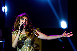 ANAHEIM, CA - APRIL 25 Mexican singer and Latin Grammy Nominee Ana Victoria (Daugher of Amanda Miguel) performed to a packed audience at the M3 Live Center in Anaheim, California USA. 2015 April 25. Byline, credit, TV usage, web usage or linkback must read SILVEXPHOTO.COM. Failure to byline correctly will incur double the agreed fee. Tel: +1 714 504 6870.