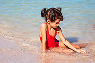 Young girl in Playa Blanca, Holguin, Cuba.