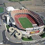 Aerial Image of Giant Stadium, Meadowlands, New Jersey, Original home of the New York Giants on July 15, 2005. ([Julia Robertson]/via AP Images)