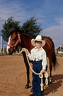 Young cowgirl at horseshow in Oklahoma, <br /> MODEL RELEASED