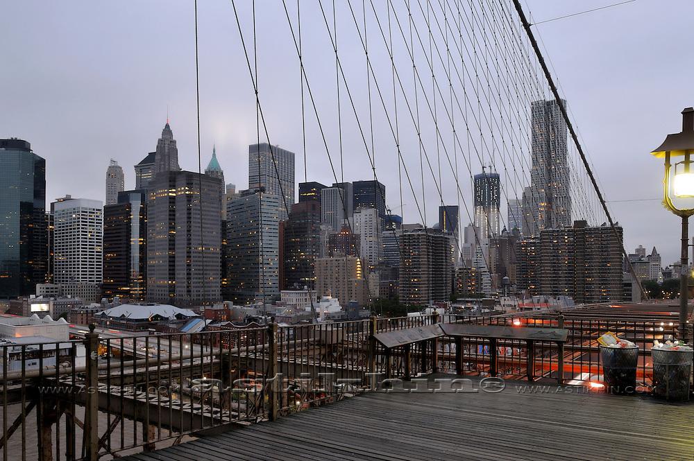 Manhattan from Brookyn Bridge.