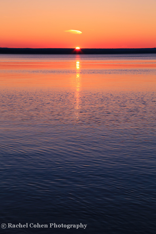 &quot;Long Sunset&quot;<br /> <br /> Beautiful hued sunset and reflections in portrait style!!<br /> <br /> Sunset Images by Rachel Cohen