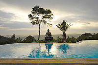 Buddha House, a fasting and retirement beautiful house in the mountains of San Miquel, Ibiza, Spain